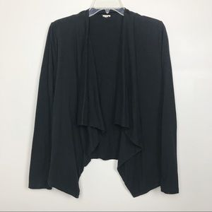 J.CREW Open Front Cardigan Cascading Drape